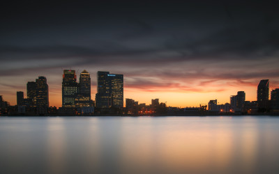 Sunset Over Canary Wharf