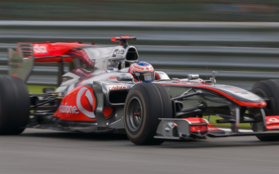 Jenson Button On The Move - Spa F1 Qualifying 2010