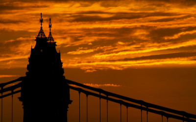 Sunset Over Hammersmith Bridge