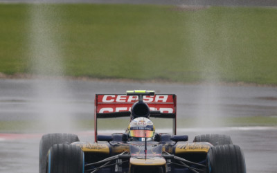 Wet weather action - Silverstone 2012