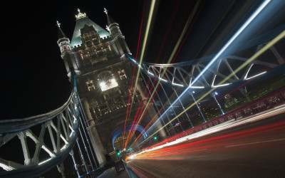 Light Trails Tower Bridge